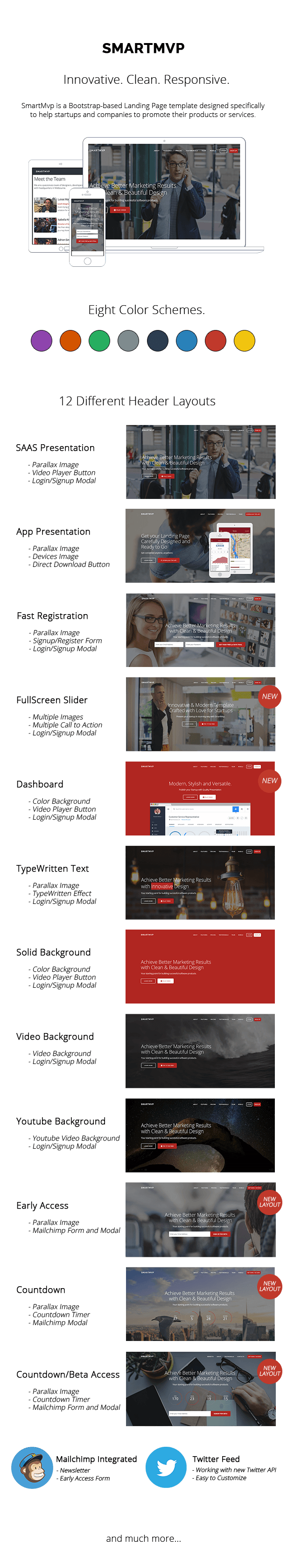 SmartMvp - Startup Landing Page Template - 1