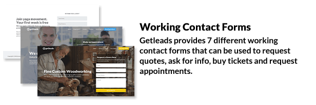 Getleads - Landing Pages Pack with Page Builder - 9